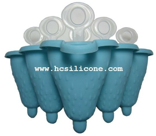 6 cups design Silicone Ice Pop Moulds (KHAI025)
