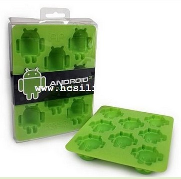 Google Android Silicone Ice Cube Tray